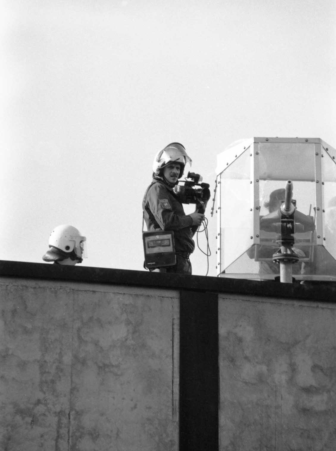 Bewacher Endlagererkundungsbergwerk 1990